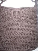 "New Brown Woven Crochet The Sak Purse Handbag Dark Shoulder 12"" 10 X 11 ... - $79.00"