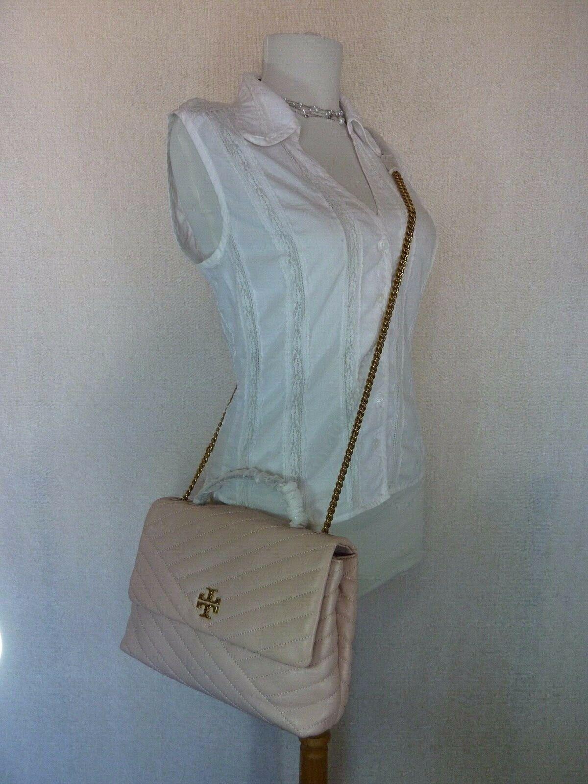 NWT Tory Burch Pink Moon Kira Chevron Convertible Shoulder Bag $528 image 3