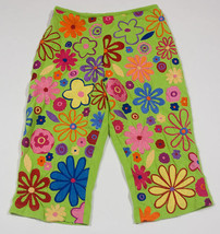 BOUTIQUE MICHAEL SIMON GIRLS SIZE 8 CROPPED PANTS FUNKY COLORFUL FLORAL - $16.82