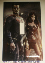 Superman & Wonder Woman Light Switch Duplex Outlet wall Cover Plate Home decor image 1