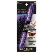 L'oreal Voluminous X Fiber Primer + Fiber Mascara 215 Blackest Black Wat... - $7.95