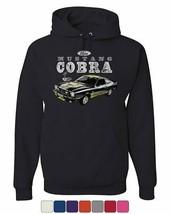 Ford Mustang Cobra Hoodie American Classic Muscle Car Licensed Sweatshirt - $30.10+