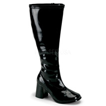 "FUNTASMA GOGO-300x Series 3"" Heel Calf-High Boot - Black Str Patent - $46.95"