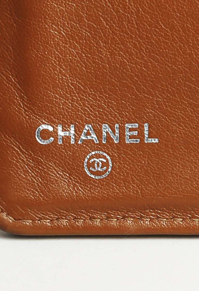 """Chanel """"Yen"""" Quilted Caviar Leather Wallet"""