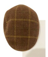 Huntsman 100 Percent Wool Driving  Newsboy Plaid Hat/Cap Made In Italy - $39.60