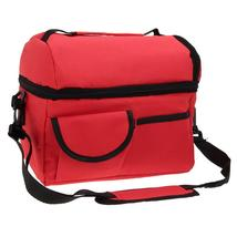 (red)8L Square Thermal Bag Women Men Lunch Bag Cooler Beam Port Lunch Box  - $34.00