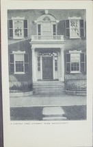A Chestnut Street Doorway, Salem, Massachusettes vintage B&W Postcard - $2.95