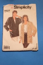Vintage Sewing Pattern Simplicity # 9827 Size 10 - 20 Jacket Long Sleeve... - $11.63