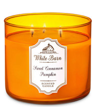 White Barn Sweet Cinnamon Pumpkin Three Wick 14.5 Ounces Scented Candle - $22.49