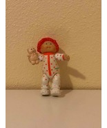 Doll Cabbage Patch Kids Baby Babies Orange Hair Teddy Bear PVC Colleco 1984 - $0.98