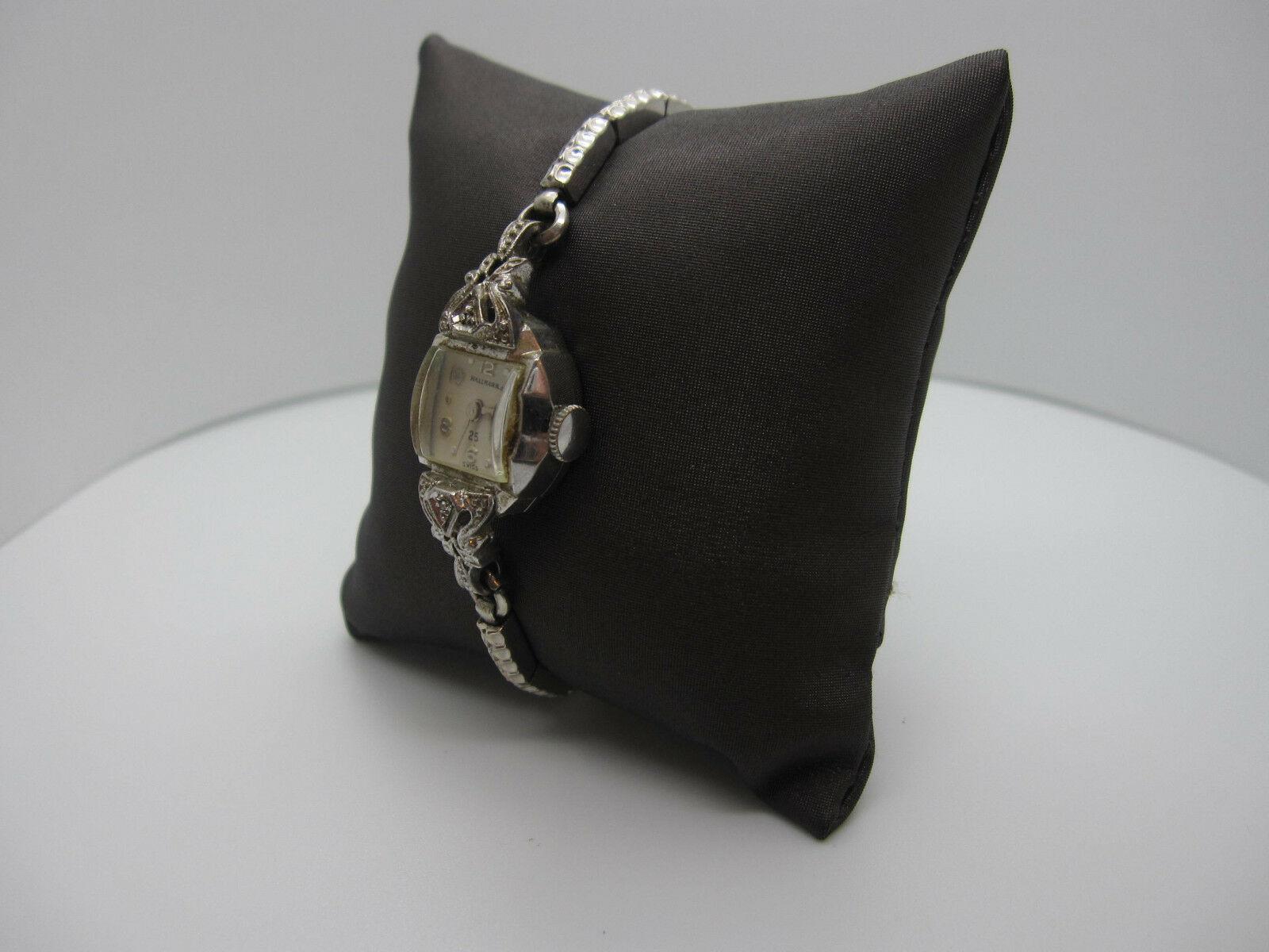 Vintage Women's Hallmark 25 Jewels 10k Rolled Gold Plated Hand Wind Watch image 4