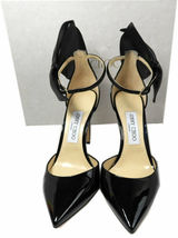 Jimmy Choo KELLEY Bow Pointy Toe Pumps Black Leather Heels Shoes 37.5 Sandals image 7