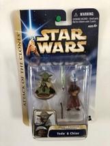 Star Wars Saga Yoda & Chian Jedi Temple Training #15 AOTC 2003 - $13.85