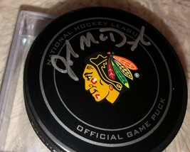 John Mc Donough Signed Auto Official Nhl Game Hockey Puck - $59.39