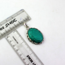 Turquoise Stone Silver Plated Best Quality Pendant With Chain/Necklace RS-16-18_ - $8.09