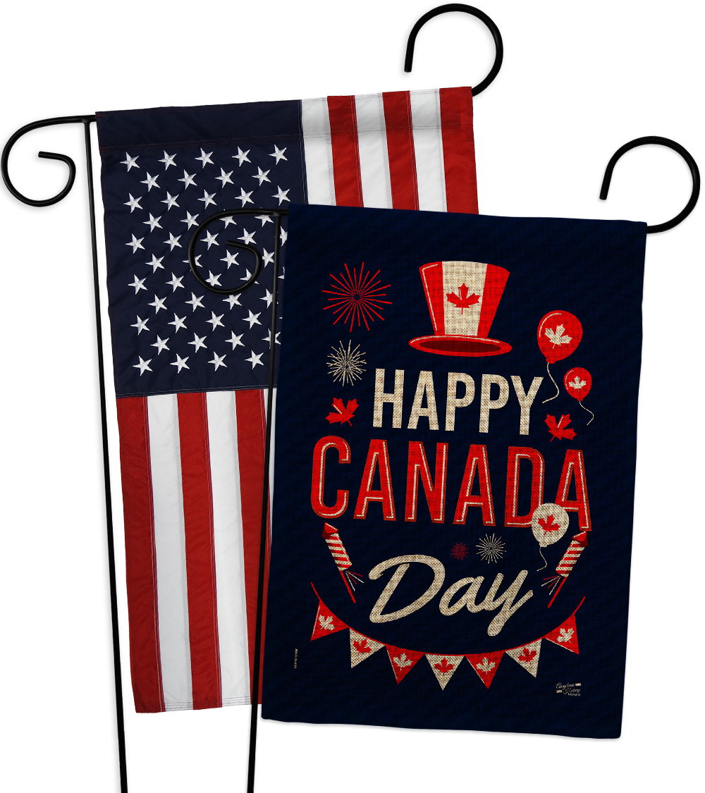 Primary image for Canada Day Burlap - Impressions Decorative USA Applique Garden Flags Pack GP1372