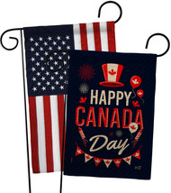 Canada Day Burlap - Impressions Decorative USA Applique Garden Flags Pack GP1372 - $34.97