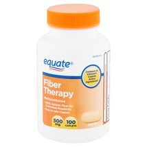 Equate Fiber Therapy, Methylcellulose, 500 mg, 100 caplets - $17.77