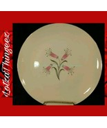 Homer Laughlin RY356 China Pink Flowers Gray Black Leaves 9 Dinner Plates - $53.45