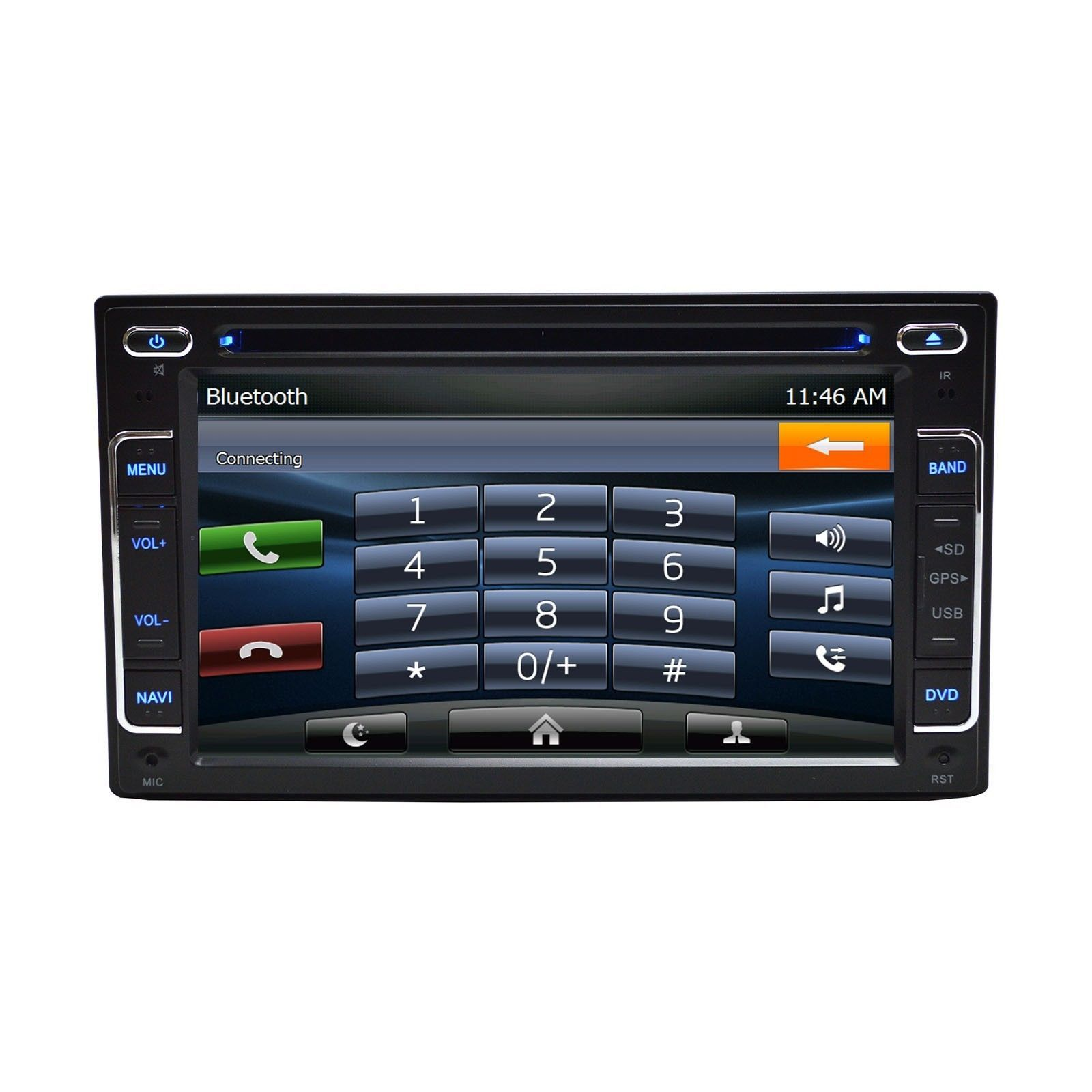 """6.2"""" DVD Navigation Touchscreen Multimedia Radio for 2012 Ford Taurus image 6"""
