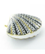 Herend Scallop Shell Black Fishnet Hungary Porcelain 24K Accents VHNM-15... - $286.15