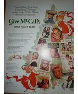 Merry Christmas McCall's Magazine Gift Print Magazine Ad 1969 - $4.99