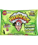 Extreme Sour Warheads Candy 175 Count Black Cherry Lemon Apple Watermelo... - $12.73