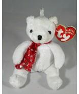 "Ty Jingle Beanies 2000 Holiday Teddy 4"" Sitting Damaged Tag - $4.94"