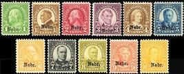 669-79, Mint F/VF NH Set of Nebraska Overprint Stamps Cat $530.00 -- Stu... - $240.00