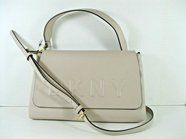 DKNY NEW Taupe Tan Crossbody Clutch Hand Bag Tilly Emboss Flap Magnetic X - $51.19