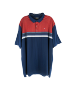 Callaway Opti-Dri Short Sleeve Golf Polo Shirt 100% Polyester Red White ... - $19.59