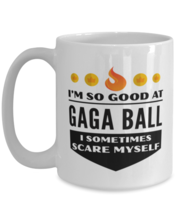 Funny Coffee Mug for Gaga Ball Sports Fans - 15 oz Tea Cup For Friends Office  - $14.95