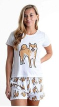 Dog Shiba Inu pajama set with shorts for women - $30.00