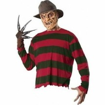 Deluxe Adult Freddy Krueger Creepy Elm Street Halloween Costume Set Kit ... - $40.49