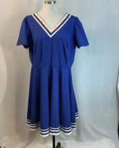 Volup Sailor Nautical Stars Stripes Dress Metal Zipper Red White Blue XL - $38.61