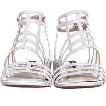 Nine West Xerxes Caged Block Heel Sandals 655, White, 5.5 US image 2