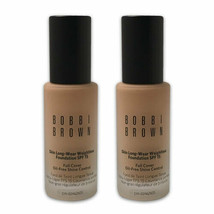 Bobbi Brown Skin Long-Wear Weightless Foundation SPF 15 -Warm Beige 3.5-LOT OF 2 - $45.76