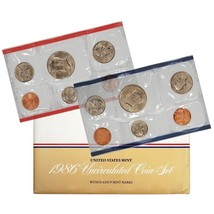 1986 P & D US Mint Set United States Original Government Packaging Box C... - $12.99