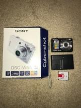 Sony Cyber-shot DSC-W55 7.2MP Digital Camera Black DSC-W55/B - $39.59