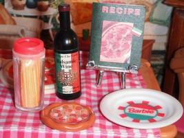 Barbie Fun Fixin Play Food Italian Plate Wine Spaghetti Play Food fits D... - $14.84