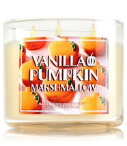 Bath & Body Works Vanilla Pumpkin Marshmallow Three Wick 14.5 Ounces Candle - $22.49