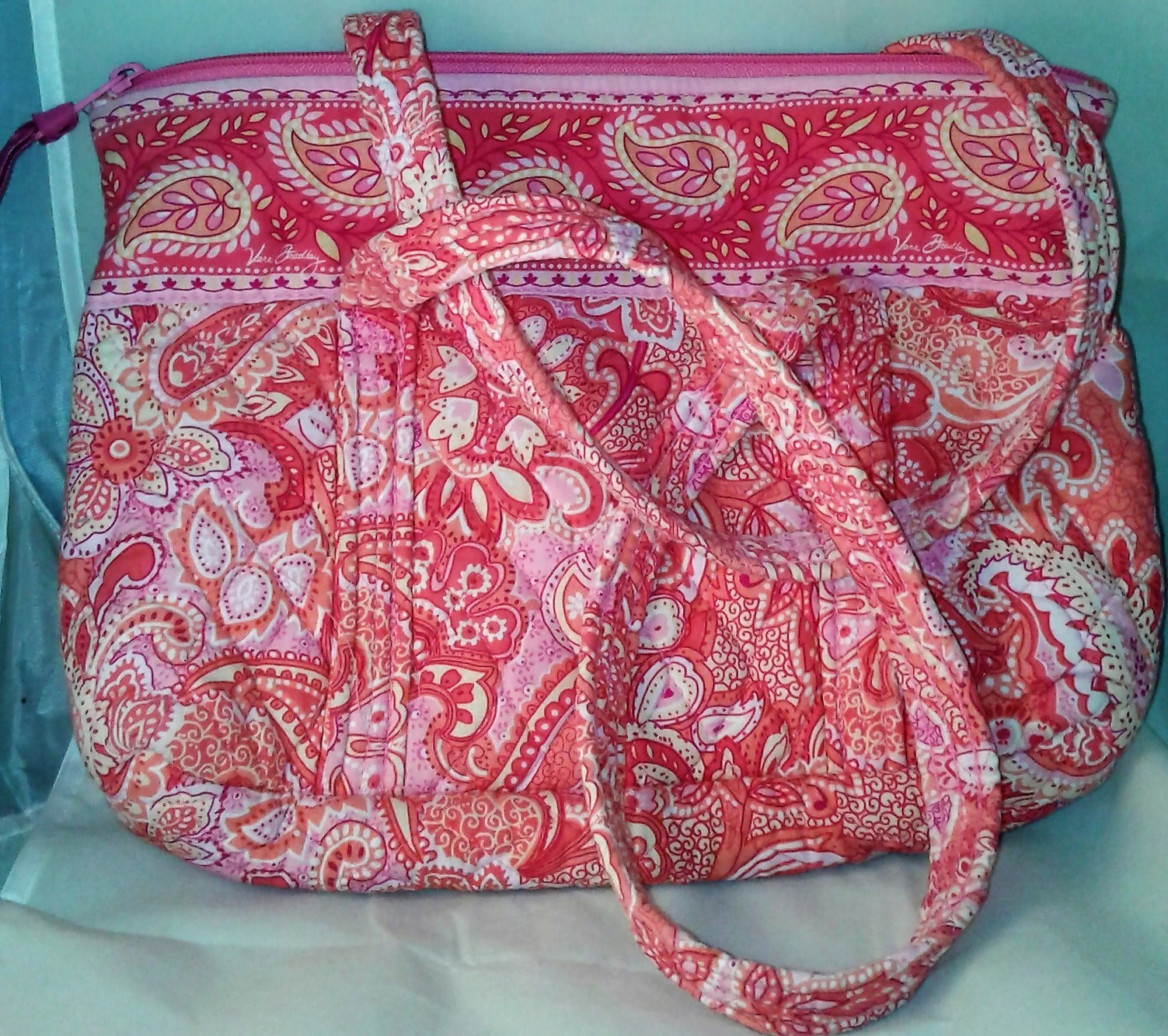 Vera bradley pink paisleyflowers quilted and 50 similar items vera bradley pink paisleyflowers quilted and 50 similar items veramian mightylinksfo