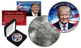 DONALD TRUMP 45th President 1976 Bicentennial Eisenhower $1 Dollar Coin ... - $12.82