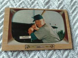 1955 Bowman Elvin Tappe Redlegs # 51 Near Mint / Mint Or Better !! - $264.99