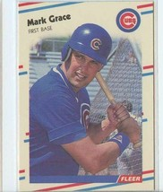 MARK GRACE RC 1988 Fleer Update #77 (NR-MINT) Chicago Cubs Baseball Spor... - $5.99