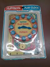 VINTAGE 1976 NEW ORIGINAL BOX PLAYSKOOL LEARNING PLAY CLOCK TOY MILTON B... - $23.75