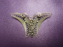 Beau Sterling Silver Signed Butterfly Brooch Pin Vintage Designer 925 - $40.10
