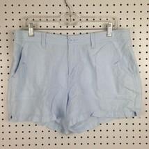 Calvin Klein Jeans Light Blue Summer Linen Cotton Blend Preppy Shorts Size 12 - $17.40