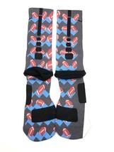 Nike Elite Cushioned Crew Basketball Socks Custom Football Size L Lions ... - $14.84