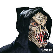 Fang Face Male Alien Beast Monster Horror Latex Adult Halloween Costume ... - £54.09 GBP